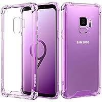 """MoKo Samsung Galaxy S9 Funda-Delgado TPU Ligero del Gel Parachoques de Amortiguación Rígido de Contraportada Transparente Anti-arañazo Funda Protectora para Samsung Galaxy S9 2018 5.8"""", Púrpura Transparente"""