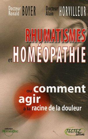 Rhumatismes et homopathie