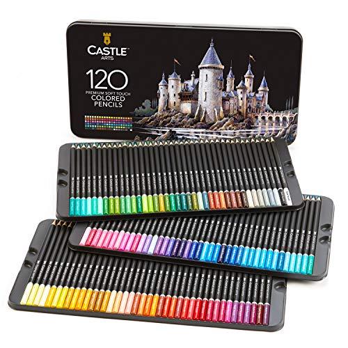 Castle Art Supplies, Set mit 120 Buntstiften für Künstler mit Mine der