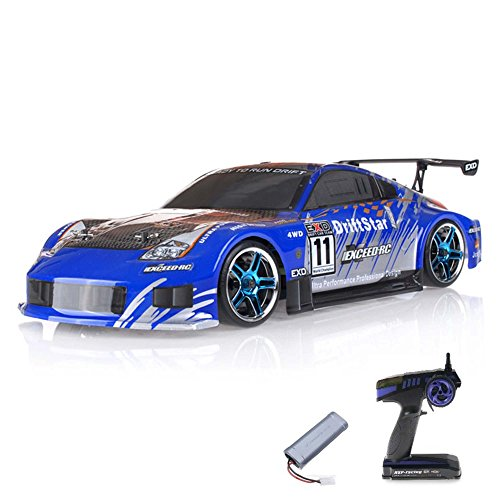 HSP Racing 1:10 RC Drift car Flying Fish 1800mAh Farbe variiert - 1800mah Rc-cars