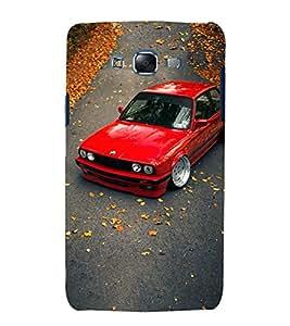 Blue Throat Vintage red car Back Case Cover for Samsung Galaxy J7 J700F (2015) :: Samsung Galaxy J7 Duos (Old Model) :: Samsung Galaxy J7 J700M J700H