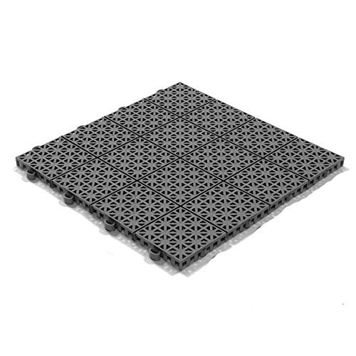 Stecksystem Kunststofffliesen Hestra Universa | Bodenfliesen Kunststoff | Bodenplatten | Klicksystem Fliesen | 11 Fliesen à 30 x 30 cm | 35,90 EUR (36,26 EUR/m²) | dunkelgrau
