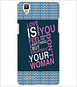 PrintDhaba Quote D-4125 Back Case Cover for OPPO F1 (Multi-Coloured)
