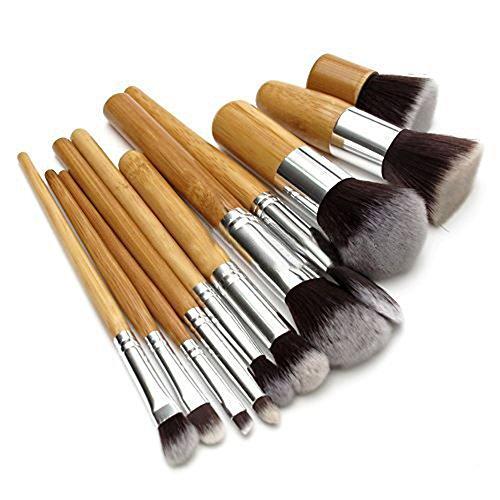 11stk. Pinceau manche en bois Pinceau Foundation Concealer Maquillage Kit
