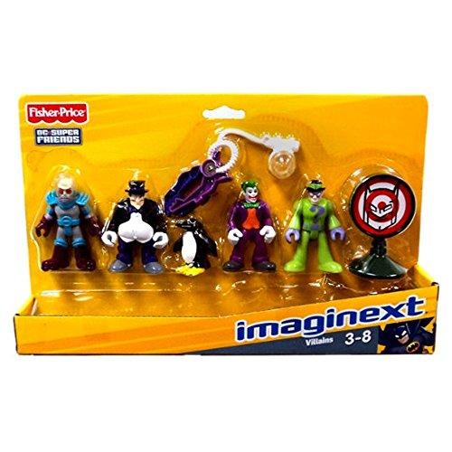 Fisher Price Imaginext DC Super Heroes & Friends Villians 5 Figura Confezione