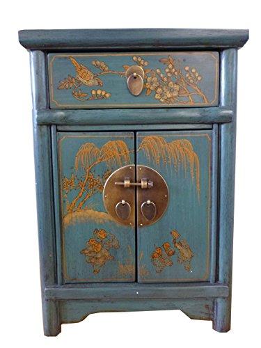 Opium-Outlet-dekoschr-nkchen-Cmoda-joyero-turquesa-pintados-a-mano-de-China