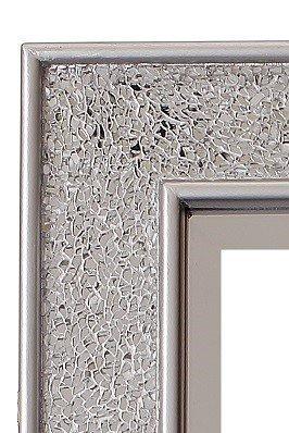 Glamour by Casa Chic Mosaik Wandspiegel in Silber und Gold - Rechteckig