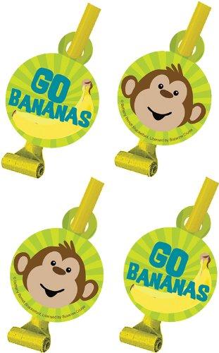 Creative Converting Monkeyin 'um Geburtstag Party Tröten, 8Gastgeschenken Pro Paket