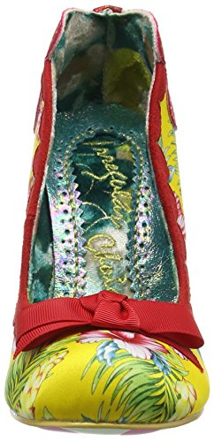 Irregular Choice Delightly Floral, Escarpins femme Rouge - Red (Red/Yellow)