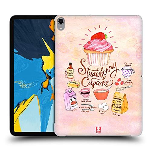 head case designs cupcake fragola ricette illustrate cover dura per parte posteriore compatibile con ipad pro 11 (2018)