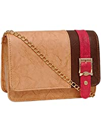 Borse Women / Girls / Lady Beige Boxed Trendy Sling Bag (KCPB8-BE) - Latest & Stylish Outing Bag For College /...