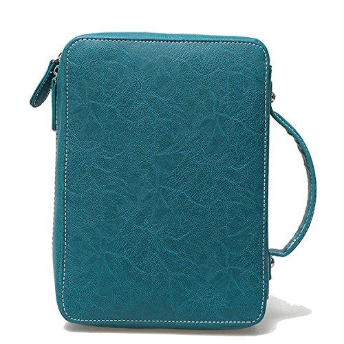 Blancho Biancheria da letto delle donne [possibile] Cuoio borsa di modo elegante Borsa ROSA BIBLE COVER-AQUA Ebay Precio Barato 2018 Nueva Línea Barata WBwvg1IM