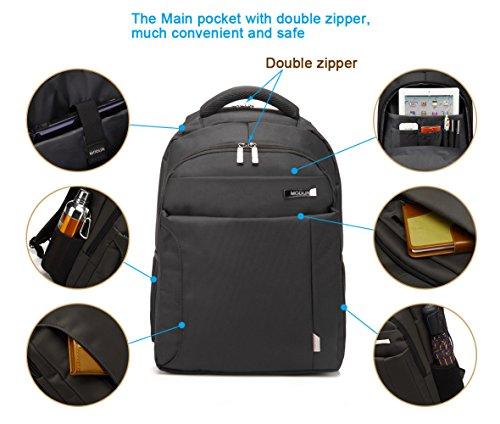 Imagen de  de ordenador portátil  de viaje de negocios, 15,6 pulgadas negro impermeable bolso de hombro resistente para la escuela, trabajo, viajes alternativa