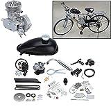 Ambienceo 2 Hub 50cc Fahrrad Benzin Gas Motorisierte Motor Bike Motor Kit Silber