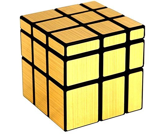 BirthMark 3x3 Golden Mirror Rubiks Cube Puzzle Game For Kids And Adults