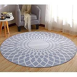 TWGDH Alfombras Nordic Minimalista Sala De Estar Dormitorio Mesa De Café Hogar Antideslizante Alfombra Redonda