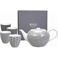 Tokyo Design Studio, Nippon Black, Tee Set, 5-tlg., 1.2 L kanne, porzellan