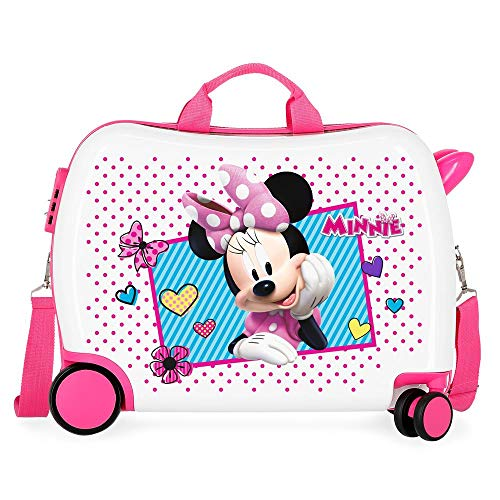 Disney Minnie Joy Ride-on Suitcase 2 Multi-Direction Spinner Wheels, 50 cm, Multicolor
