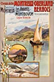 Posterlounge Canvas print 100 x 150 cm: Railway Montreux by Anton Reckziegel/ARTOTHEK - ready-to-hang wall picture, stretched on canvas frame, printed image on pure canvas fabric, canvas print