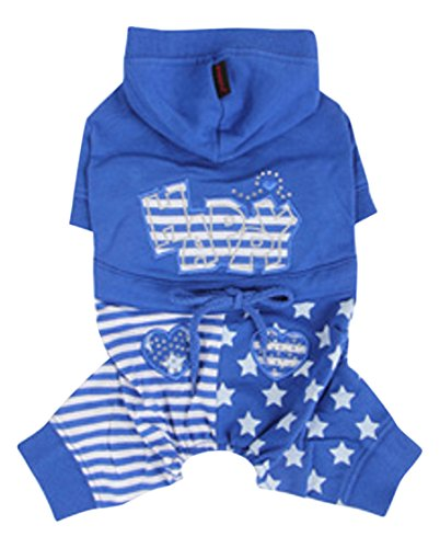 Puppia PAMA-OP958 Happy Star Jogging Sweater, L, blau