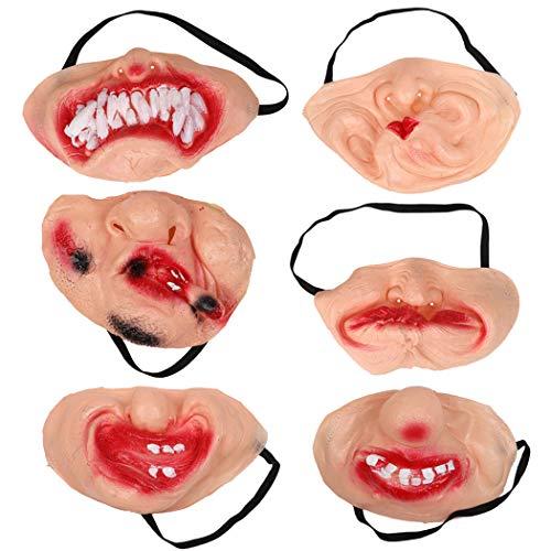 lloween Maske Neuheit Halbe Gesichtsmaske Cosplay Kostüm Maske Halloween Prop ()
