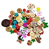 #6: Generic Pack of 90 Colorful Hedgehog Wooden Decorative Buttons Flatback Embellishments for Sewing and Crafts