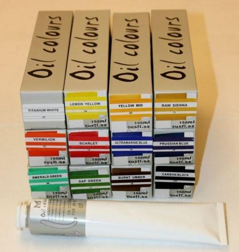 lot-de-12-tubes-peinture-a-lhuile-150-ml