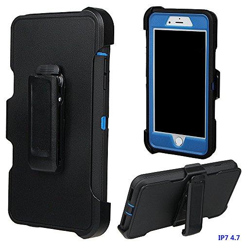 iPhone 7 Hülle, xhorizon TM FM8 Ultra Schützend Hoch Auswirkung Beständig Hybrider Voller Körper Heavy Duty Case mit eingebaut Schirm Schutz Gürtel Klipp Schwenkerholster Cover für iPhone 7 [4.7