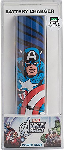 Tribe Disney Marvel Captain America USB Portable Universal Power Bank External Battery Charger for Smartphone