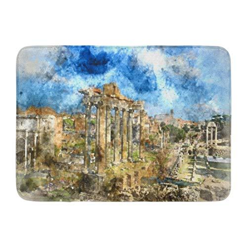 Kinhevao Bad Matte Forum antiken römischen Ruinen in Rom Italien Reisen Badezimmer Dekor Teppich -