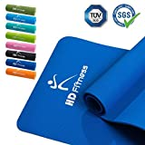 BodenMax® Gym Yogamatte, rutschfest, TPE, umweltfreundlich, Gymnastikmatte, Fitnessmatte, Sportmatte, Bodenmatte mit Tasche & Trageband,/ 183x61x0,8cm, TÜV und SGS geprüft