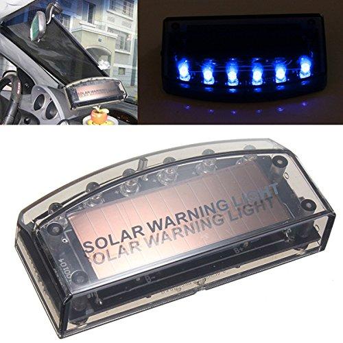 Yongse Auto Solar Ladegerät LED Auto Alarmanlage Warnung Blau Licht Sensor Sicherheit