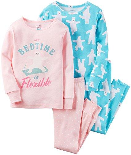 Carter's 4-teiliges MIX 'N MATCH Baby / Kleinkind Mädchen Baumwoll-Pyjama Set(6 Monate)
