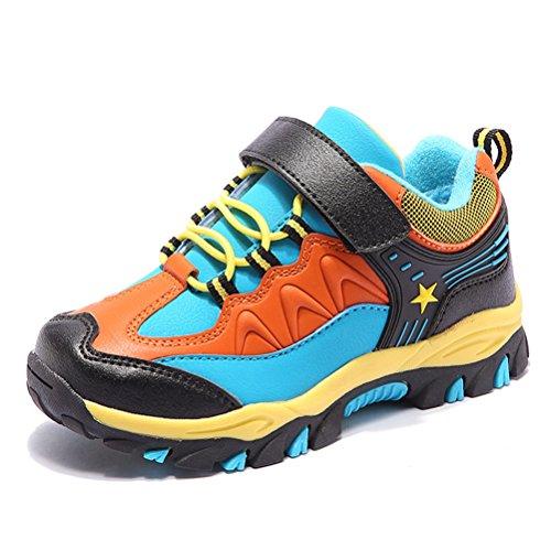 Inverno Crianças Unisex Quentes Laços Esportivos Respirável Fast-fechamento Sneakers Flat Out Vermelho