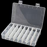 Adjustable 24 Compartment Slot Plastic Storage Box Jewelry Tool Container
