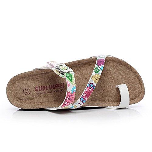 Estate Sandali Sandali dei pistoni di sughero di modo di estate Scarpe da spiaggia casuali femminili con 5 colori Colore / formato facoltativo #4
