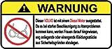 Volvo Diesel Motor German Lustig Warnung Aufkleber Decal Sticker
