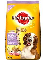 Pedigree Senior Dog Food Chicken and Rice, 3 kg