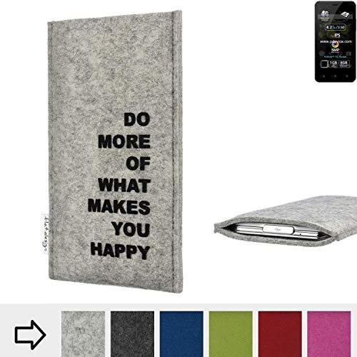flat.design Handy Hülle FARO für Allview P4 Pro Made in Germany Handytasche Filz Tasche Case Spruch Motto Mantra fair