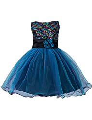 ZAMME Niñas de flor de lentejuelas princesa Tutu Tulle vestido de fiesta de cumpleaños