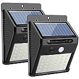 Solar Wall Light Outdoor, Karrong 30 Led Super Bright Security Motion Sensor Light for Garden (Two Pack)