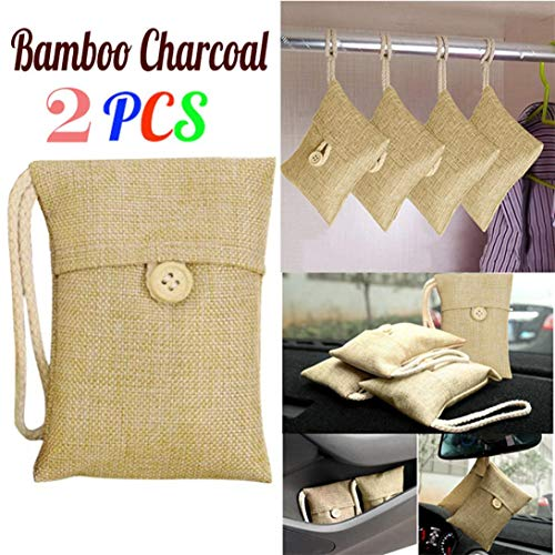 2Auto Bambuskohle Paket , mamum 2Tasche Auto Bambuskohle Aktivkohle Lufterfrischer Geruch Deodorant NEU Einheitsgröße 2pcs