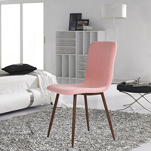 lot de 4 chaises pour salle manger coavas tendance intemporelle avec pieds en m tal robustes. Black Bedroom Furniture Sets. Home Design Ideas