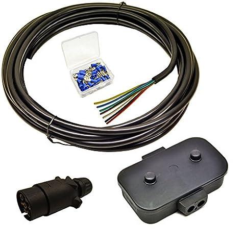 Trailer Light Electrics Rewire Kit Plug, Junction Box, 10m Cable