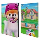 Head Case Designs Offizielle Boo-The World's Cutest Dog Skatie Board Charakter Kunst Brieftasche Handyhülle aus Leder für iPad Air (2013)