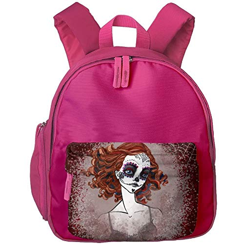 Girl with A Skeleton Makeup Students Book Bag Children Schoolbags Backpacks for Teens Boys ()