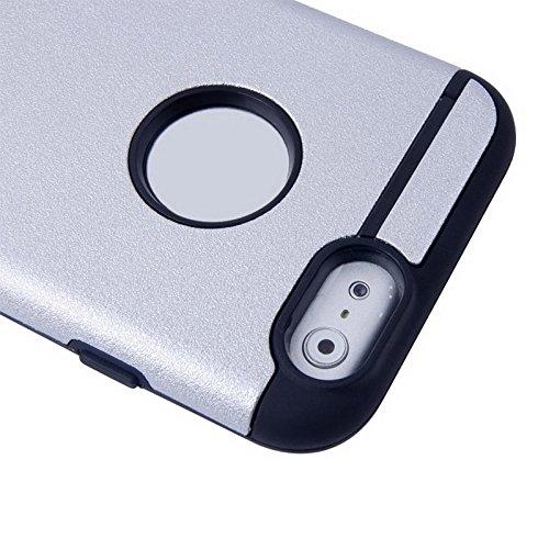 Phone case & Hülle Für IPhone 6 / 6s, 0.3mm ultradünner bunter Spangle TPU transparenter Fall ( Color : Silver ) Silver