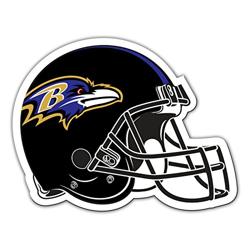 NFL Shop Authentic 30,5cm Magnet Team Banner Helm/Logo, Baltimore Ravens ()
