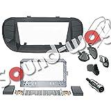 Kit montaggio autoradio 2 DIN per FIAT 500 colore nero opaco Plancia mascherina con bocchettoni aria