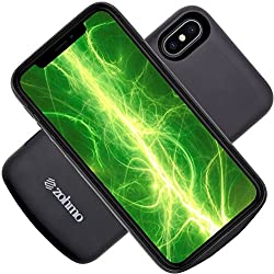 iPhone X Accessories - iPhone X Battery Case | Slimmest Rechargeable Backup Charging Case for Apple 10 Phone | Best Chargers for Extended Portable Power Pack Cases | 3,000 mAh | 100% Recharge by Zohmo